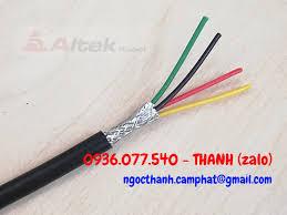Cáp tín hiệu bọc lưới chống nhiễu 4 x 0.22 mm2 Altek Kabel