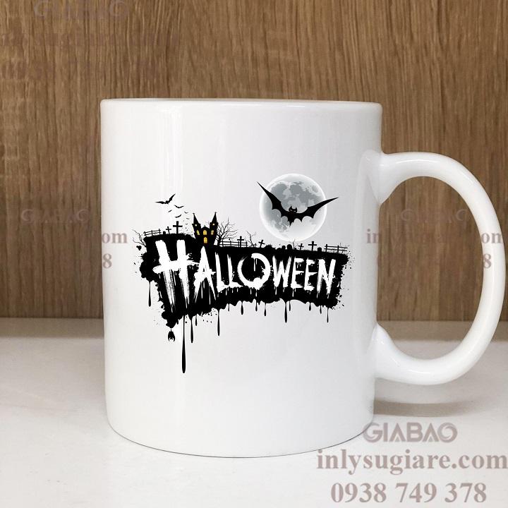 Quà tặng ly sứ in hình Halloween độc đáo, ấn tượng