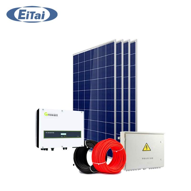 Hệ thống điện năng lượng mặt trời hoà lưới 3 kwp