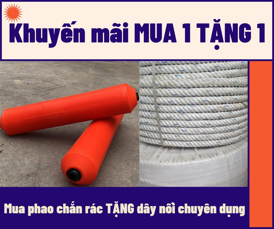 Khuyến mại mua phao chắn rác tặng dây nối phao chuyên dụng