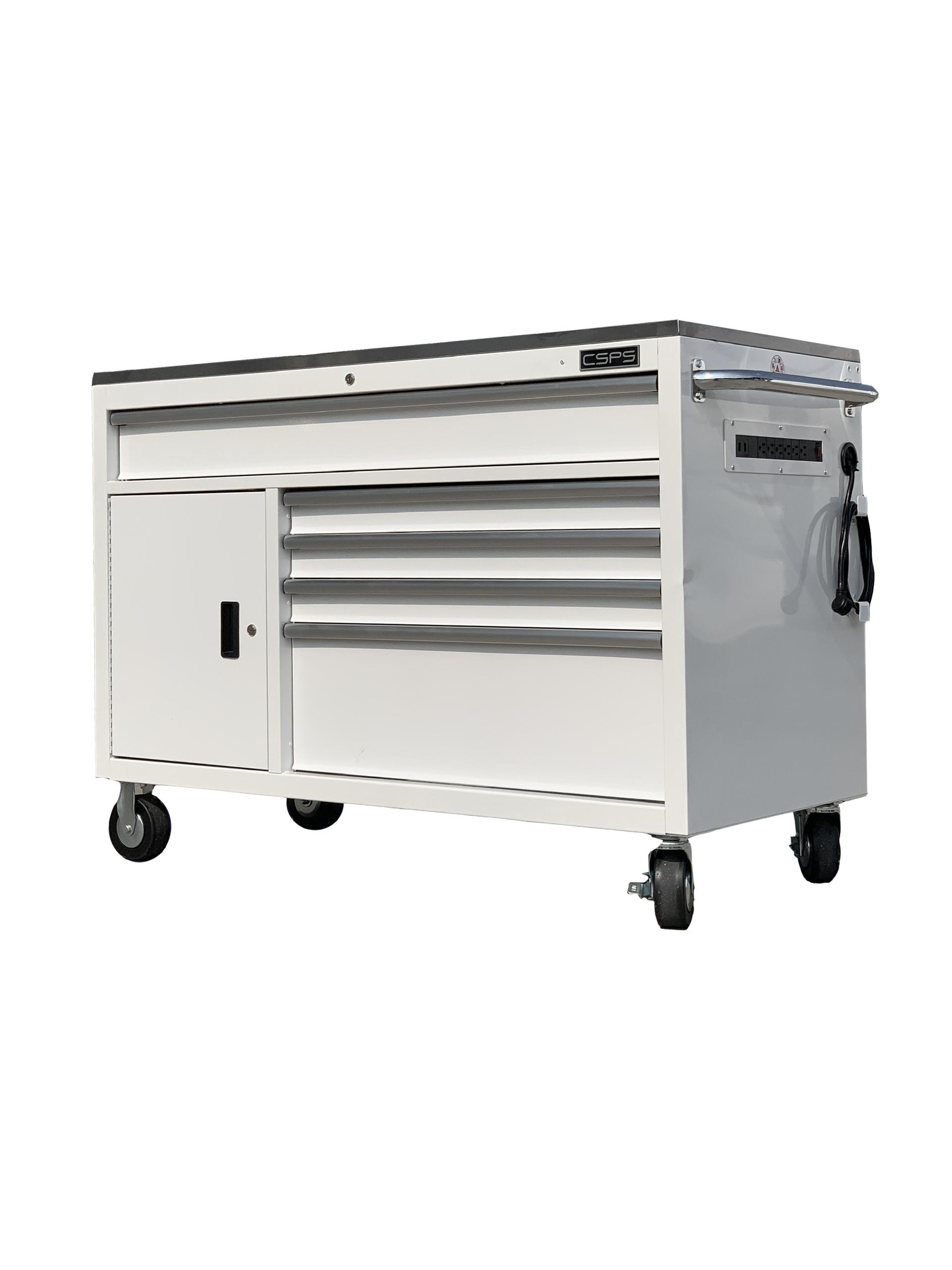 Tủ dụng cụ đồ nghề CSPS 132cm - 05 hộc kéo màu trắng