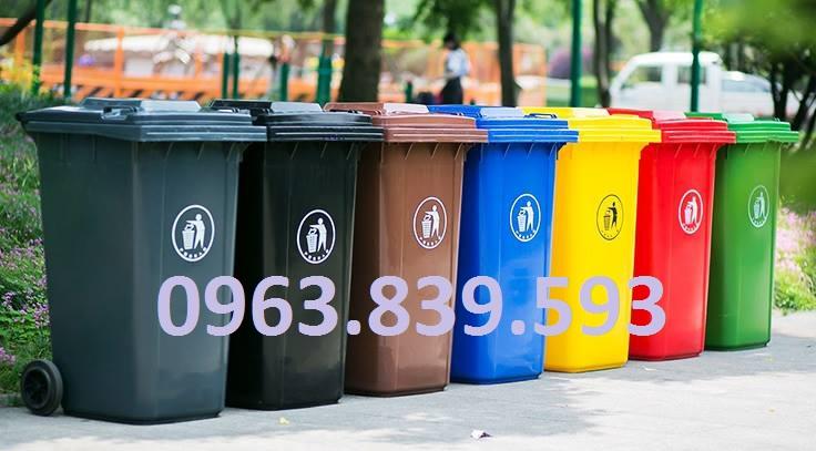 Thùng rác 240L nhự HDPE - Thùng đựng rác công cộng