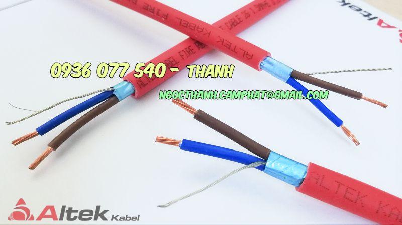 Cáp chống cháy 2X1.0 mm2 Altek Kabel