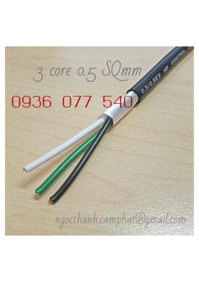 Cáp điều khiển Sangjin 0.5 mm2, RVV 300/500V, SJ_0.5 SQMM