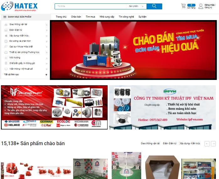 Dịch vụ đặt banner quảng cáo trên Hatex.vn
