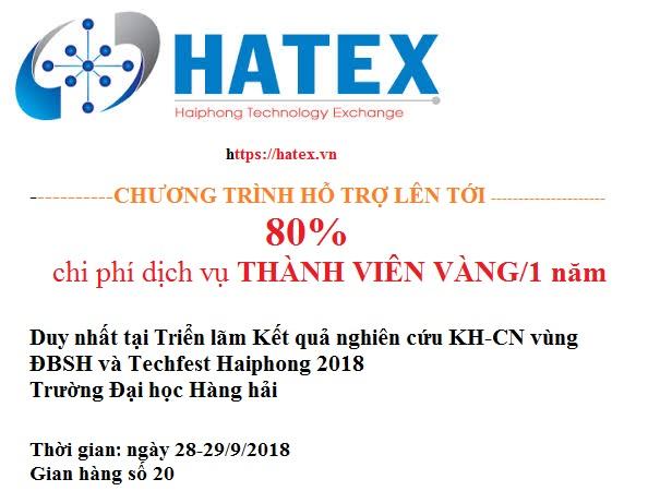 Chương trình hỗ trợ tại Triển lãm Kết quả nghiên cứu kH&CN vùng ĐBSH và TECHFEST Haiphong 2018
