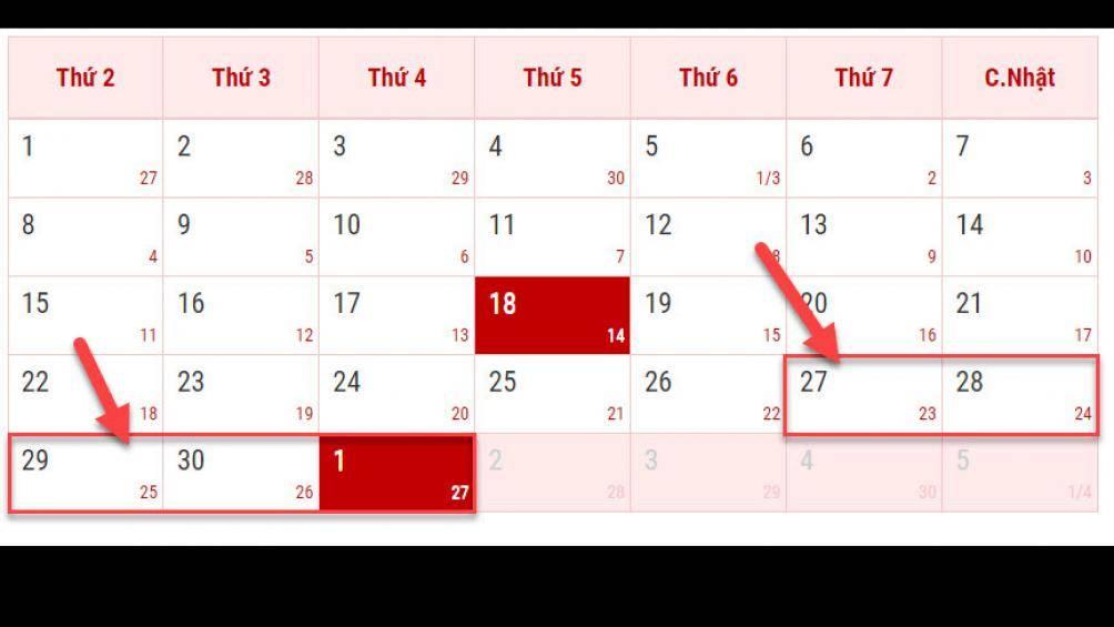 Thông báo lịch nghỉ Lễ 30/4 và 1/5/2019