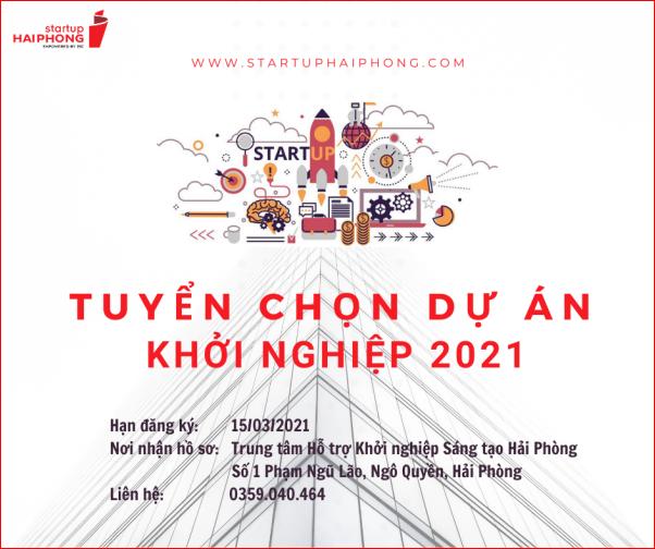 Hải Phòng: Tuyển chọn dự án khởi nghiệp đổi mới sáng tạo 2021
