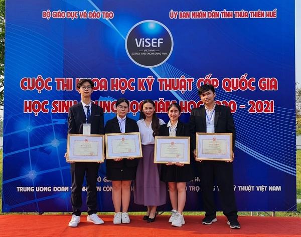 12 dự án đạt giải Nhất cuộc thi Khoa học kỹ thuật quốc gia học sinh trung học năm học 2020-2021