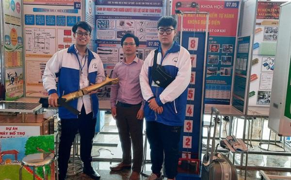 Cánh tay robot đoạt giải ba Hội thi khoa học kỹ thuật quốc tế 2021