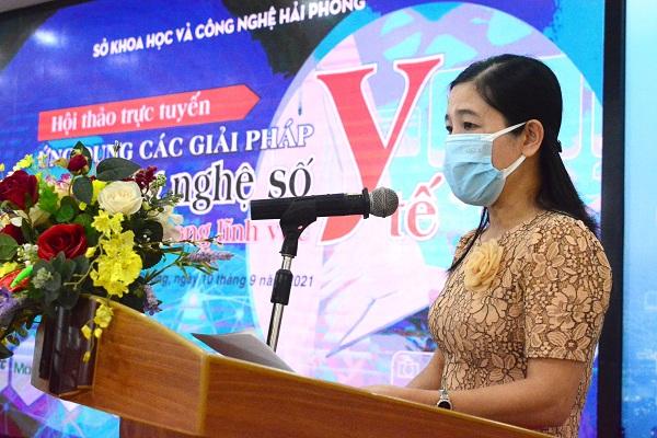 Hải Phòng: Hội thảo trực tuyến ứng dụng các giải pháp công nghệ số trong lĩnh vực Y tế