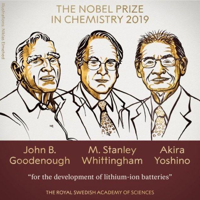 Giải thưởng Nobel hóa học 2019 được trao cho công trình nghiên cứu phát triển pin lithium-ion