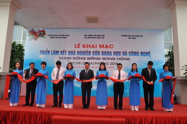 Triển lãm Kết quả nghiên cứu khoa học và công nghệ vùng  Đồng bằng sông Hồng và Techfest Hai Phong 2018