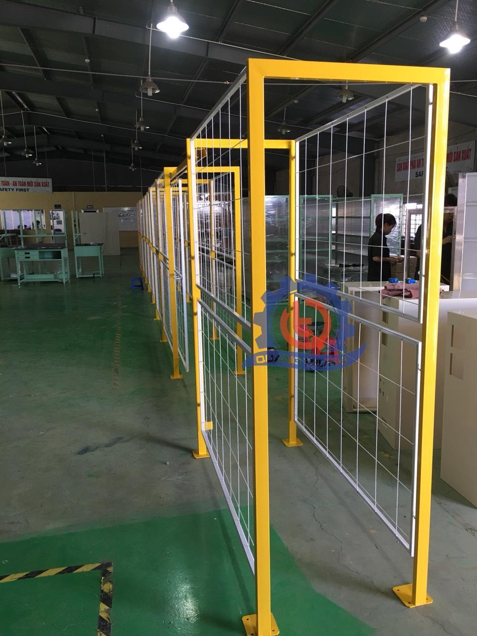 Hàng rào thép layout phân xưởng