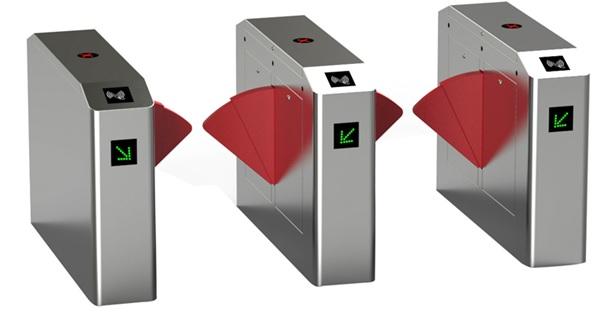 Flap Barrier tự động mở cửa bằng thẻ RFID