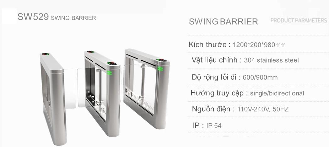 Swing barrier kiểm soát truy cập cho văn phòng