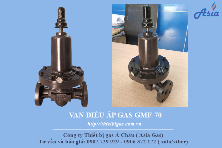 Van giảm áp gas LPG GMF-70 P 0.1 - 1.56 MPA R 0.07MPA Q 70KG/H LPG