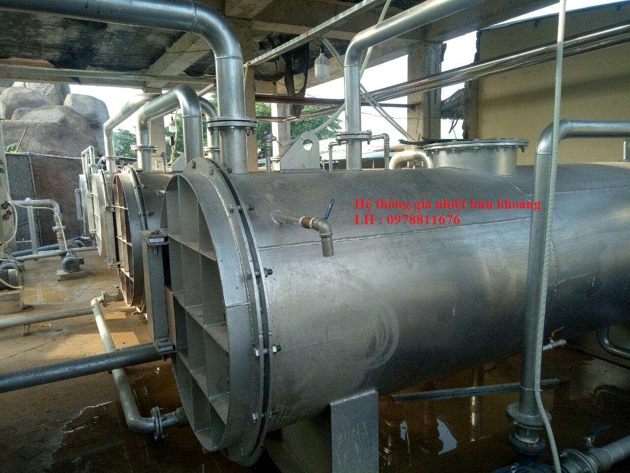 Hệ thống gia nhiệt tắm bùn khoáng, hệ thống gia nhiệt nước khoáng