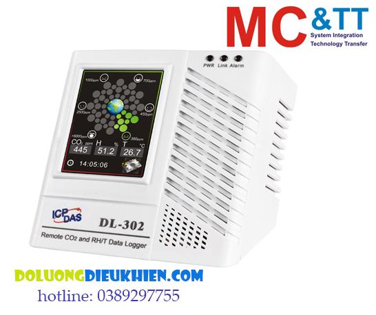 DL-302: Thiết bị cảnh báo khí CO2+ nhiệt độ+ độ ẩm+ điểm sương kết nối RS-485/ Ethernet Modbus ICP DAS
