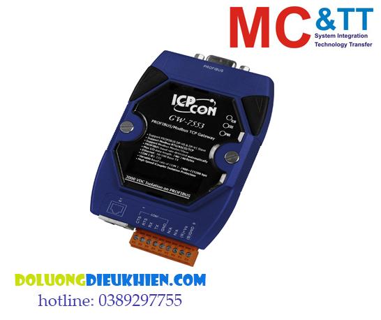 GW-7553: Bộ chuyển đổi Profibus sang Modbus TCP/ IP kết nối RS-232 ICP DAS