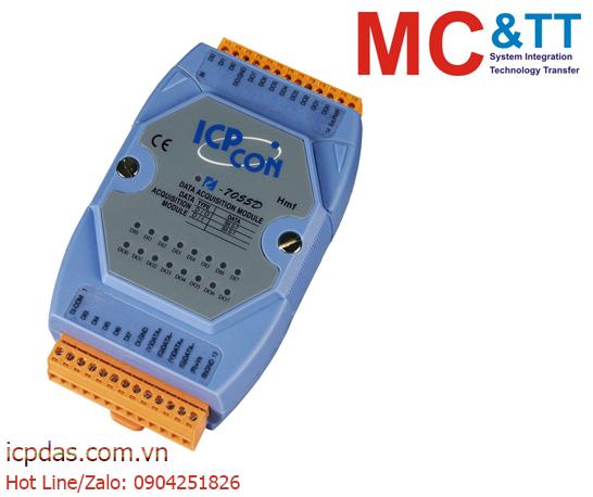 I-7055D: Module RS-485 DCON và Modbus RTU 8 kênh đầu vào số (DI) + 8 kênh đầu ra số (DO) ICP DAS