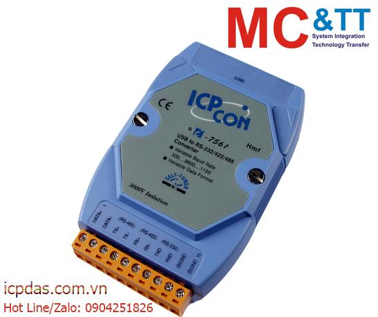 I-7561: Bộ chuyển đổi cách ly USB sang RS-232/ 422/ 485 ICP DAS