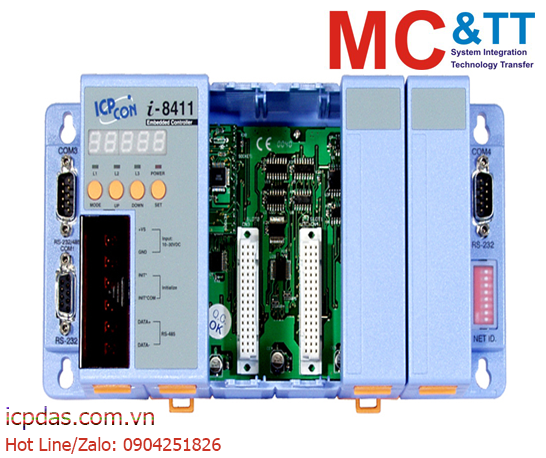 I-8411: Bộ điều khiển lập trình nhúng kết nối RS-232/ RS-485 ICP DAS