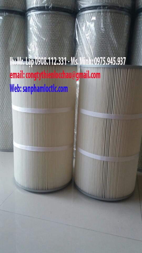 Lọc bụi cartridge 320 X 600- 320 X 600 nhựa (PE )