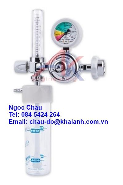 Bộ điều chỉnh áp suất hút FM kèm bình làm ẩm oxy y tế