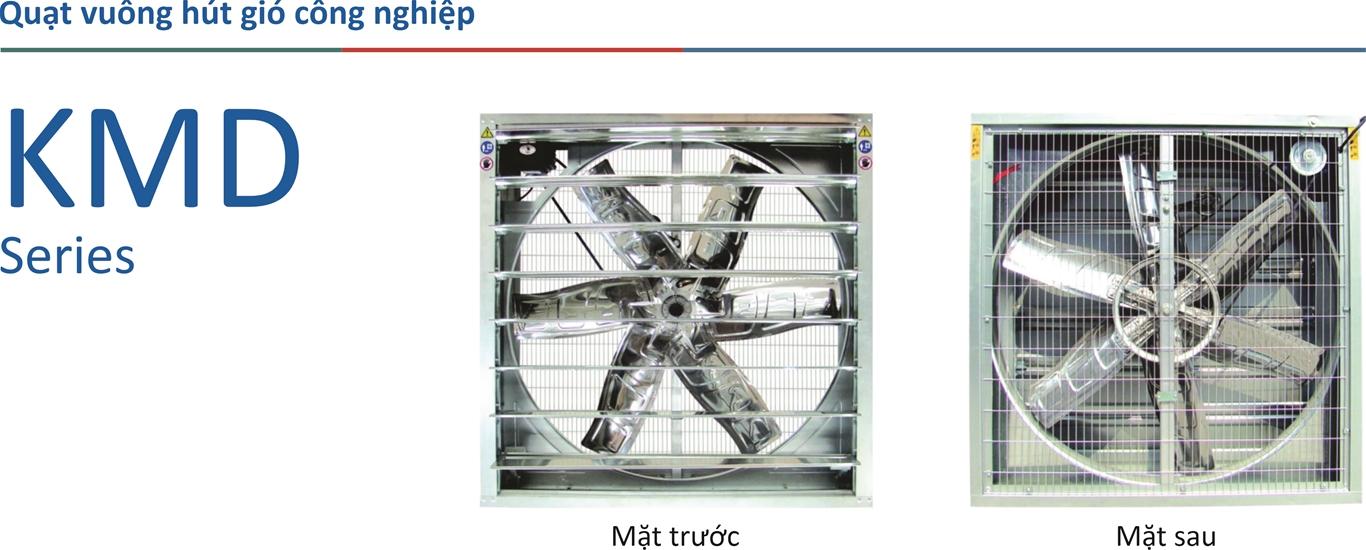 Quạt vuông thông gió KMD-EX