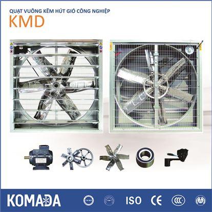 Quạt vuông kẽm hướng trục hút gió công nghiệp KMD