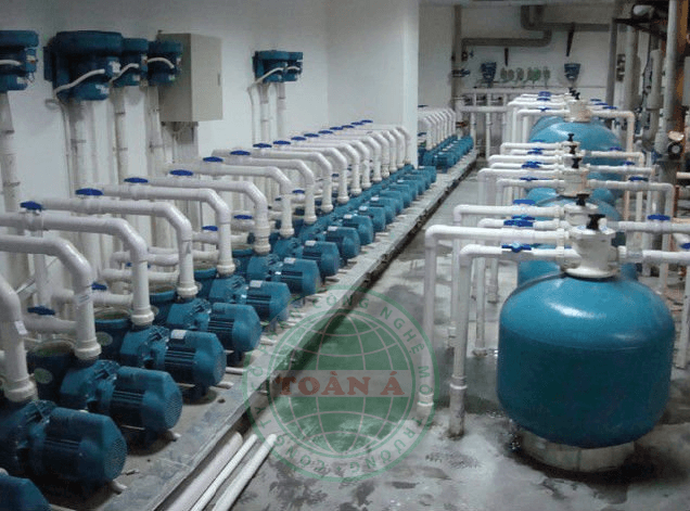 Hệ thống xử lý nước cấp bể bơi