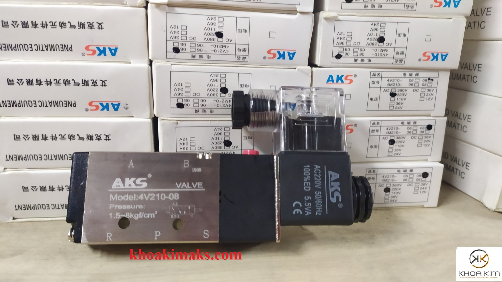 Van điện từ 4V210-08 AKS 220V