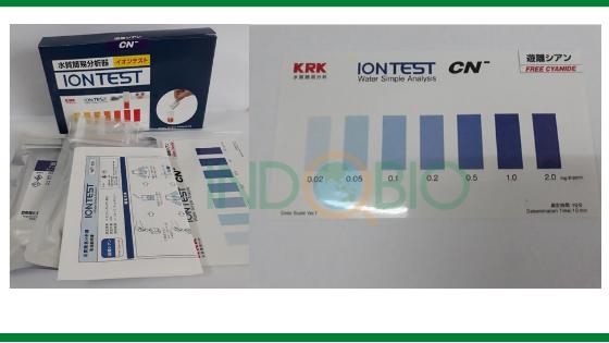Test nhanh xyanua trong nước thải xi mạ với bộ test WIT-CN Nhật Bản