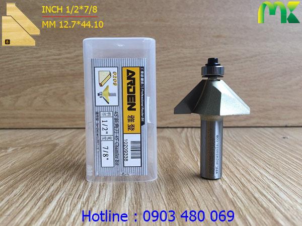 Mũi phay góc 45 độ ARDEN 1/2*7/8 0209 cốt 12.7mm