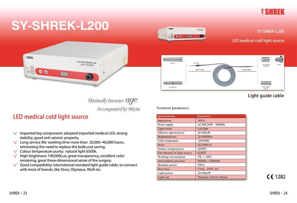Máy nội soi tai mũi họng SY-SHREK-S700