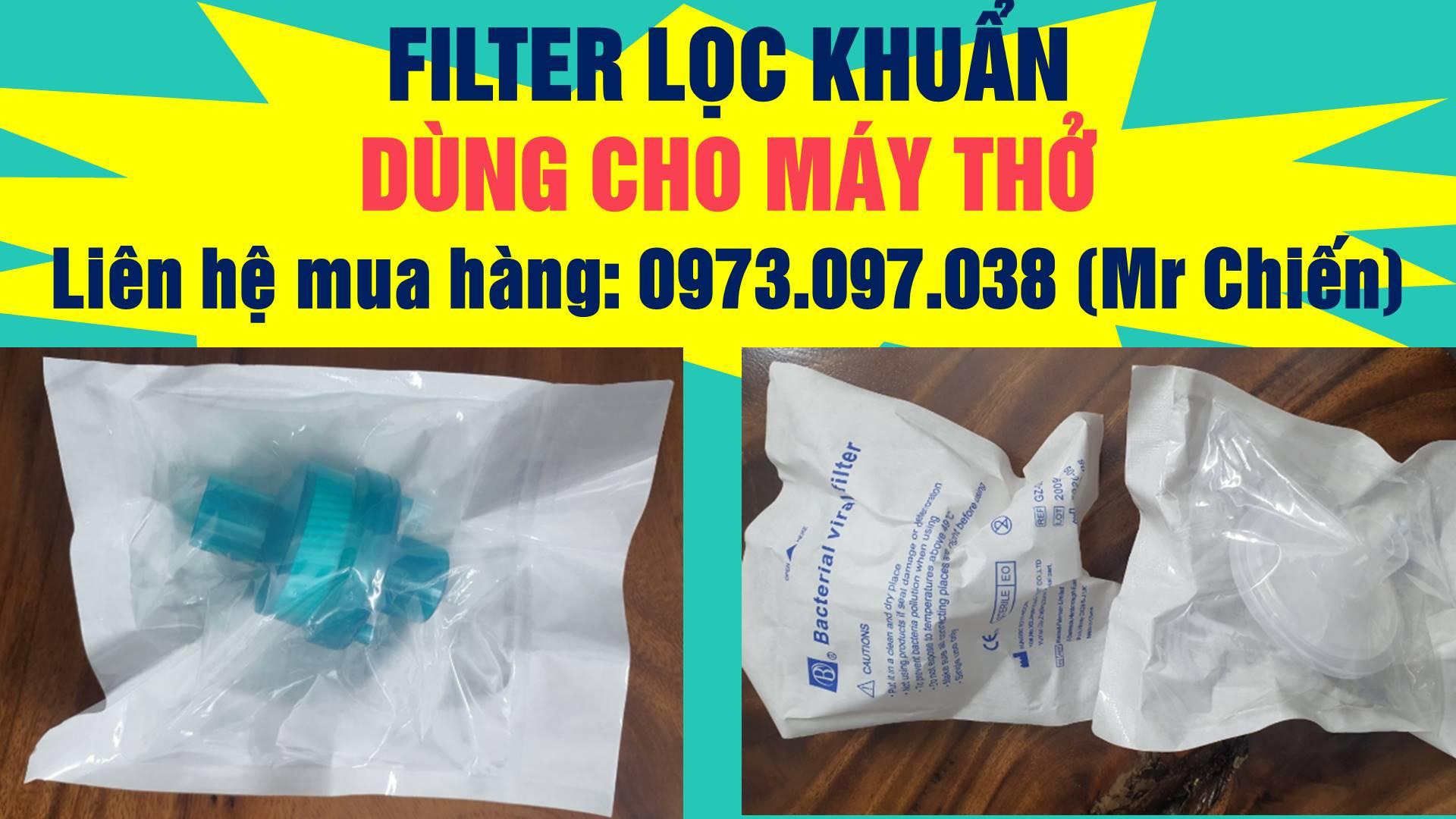Filter lọc khuẩn | Filter lọc khuẩn 3 chức năng dùng cho máy thở