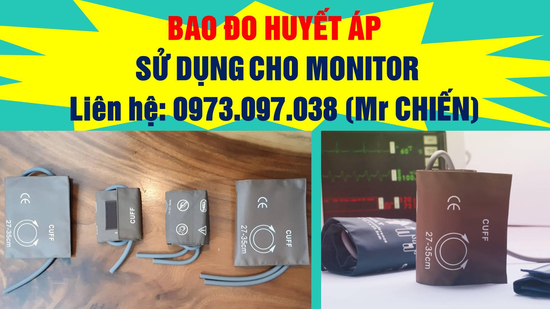 Bao đo huyết áp dùng cho monitor