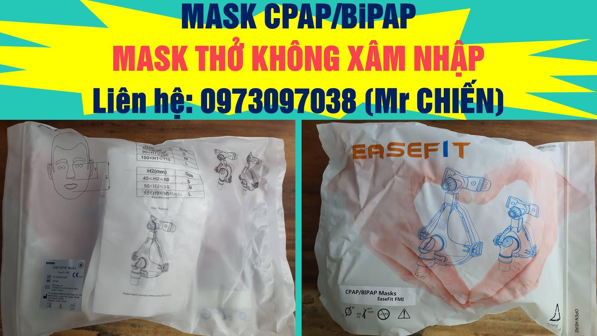 Mask thở không xâm nhập| Mask CPAP/ BiPAP