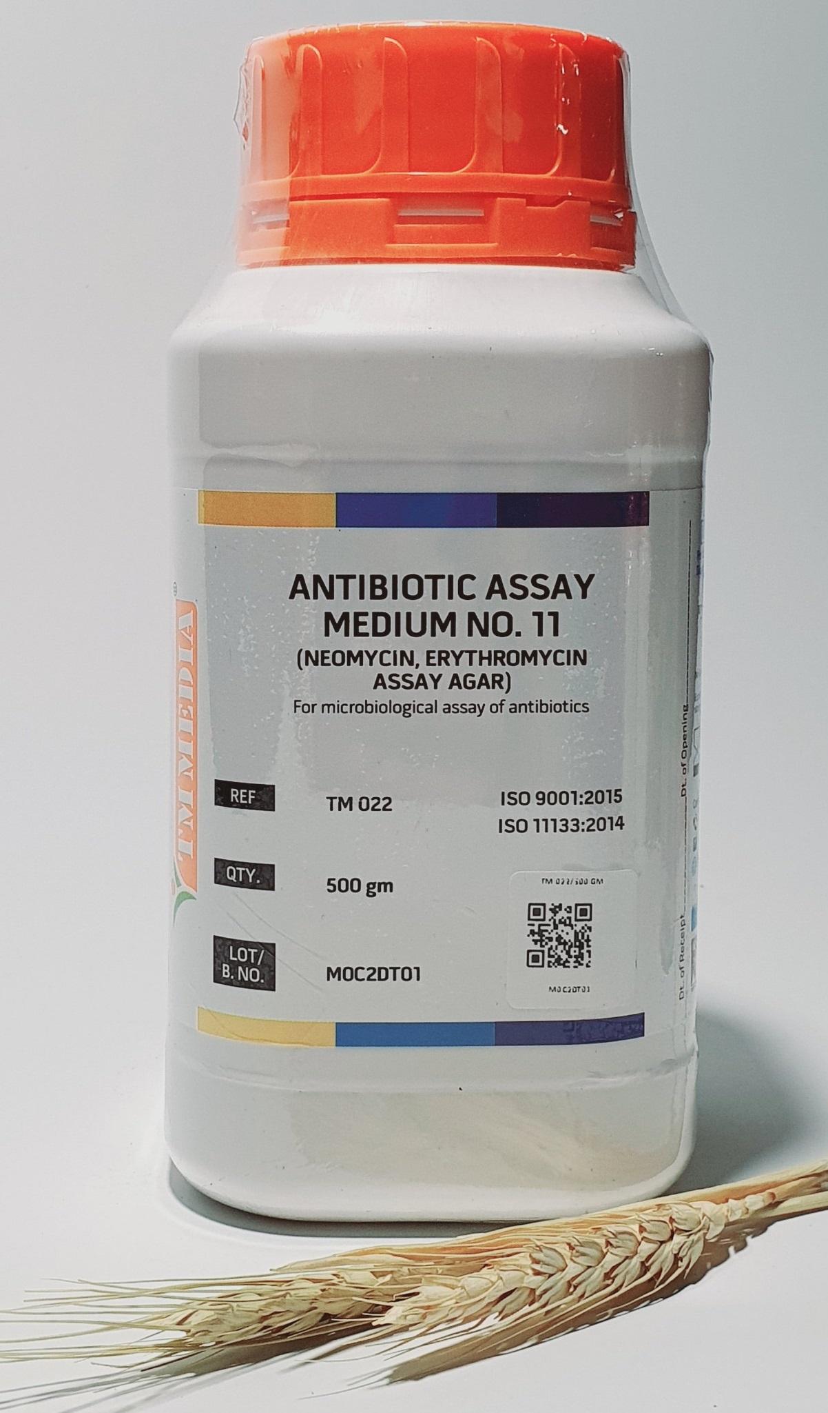 Antibiotic Assay Medium No.11 Neomycin, Erythromycin Assay Agar Erythromycin Seed Agar