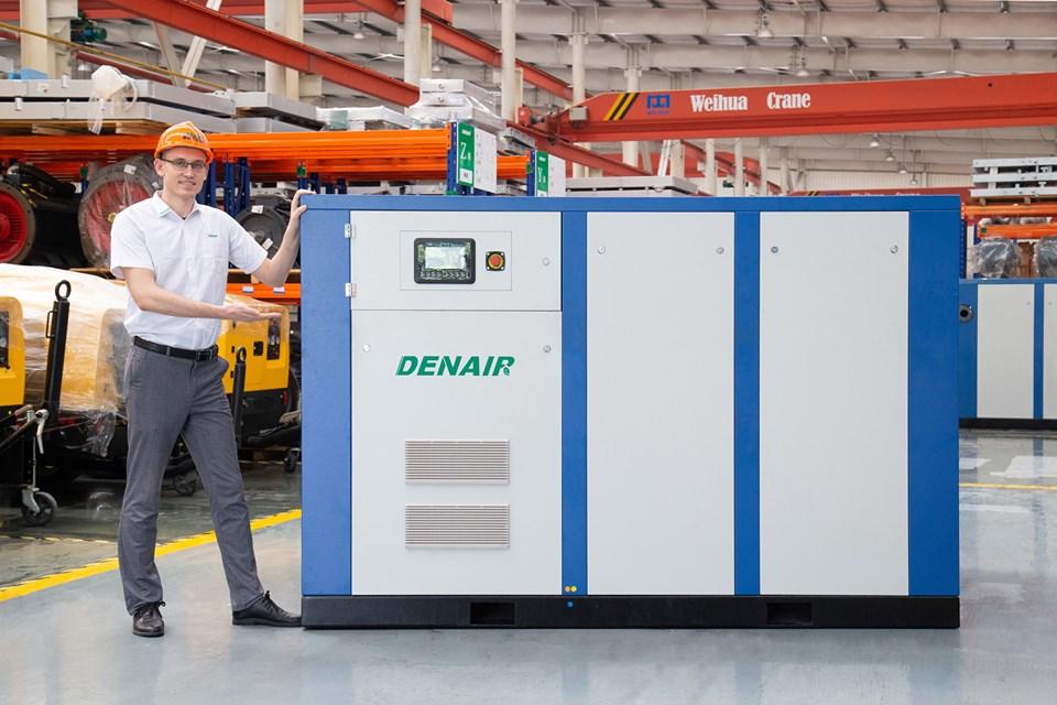 Máy nén khí trục vít có dầu Denair công suất 5.5- 400 Kw