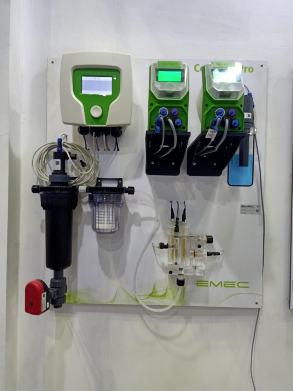 Thiết bị đo và kiểm soát pH, Chlorine, độ dẫn điện và độ đục trong nước