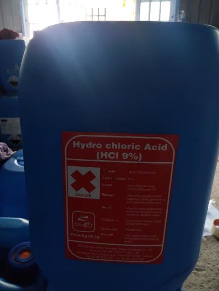 Hóa chất Hydrochloric Acid _ HCL nồng độ 9%