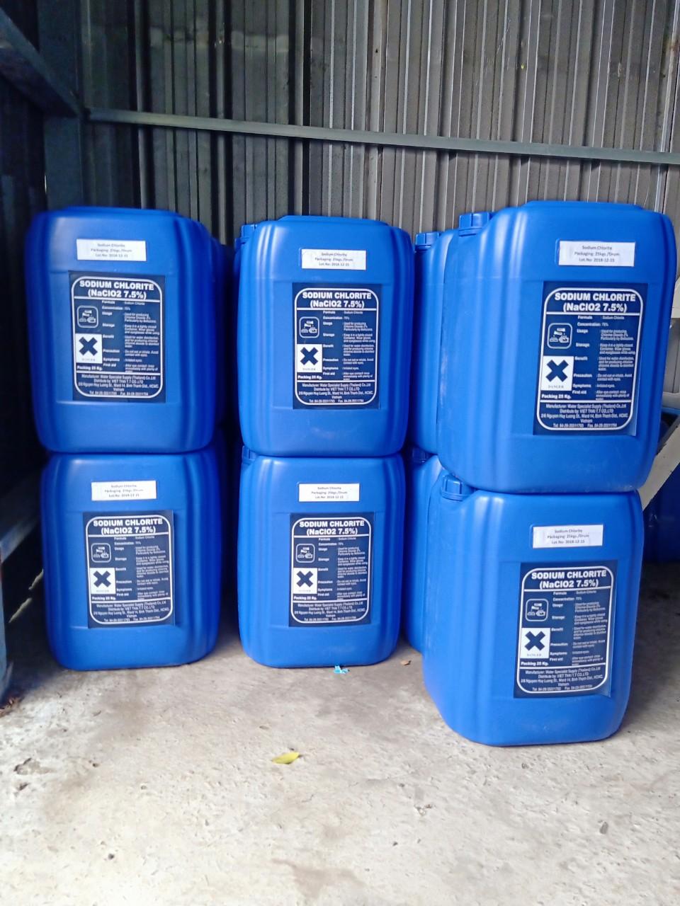 Hóa Chất Sodium Chlorite (NaCLO2) nồng độ 7,5%