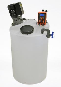 Bồn nhựa PE, máy khuấy hóa chất và bơm định lượng hiệu KMS