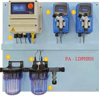 Hệ thông kiểm soát và châm hóa chất pH, ORP cho bể bơi PA-LDPHRH