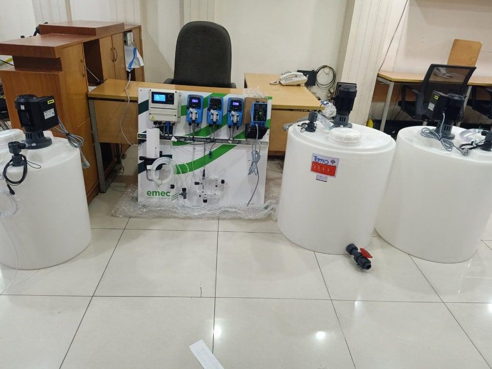 Hệ thống kiểm soát pH và Chlorine trong nước