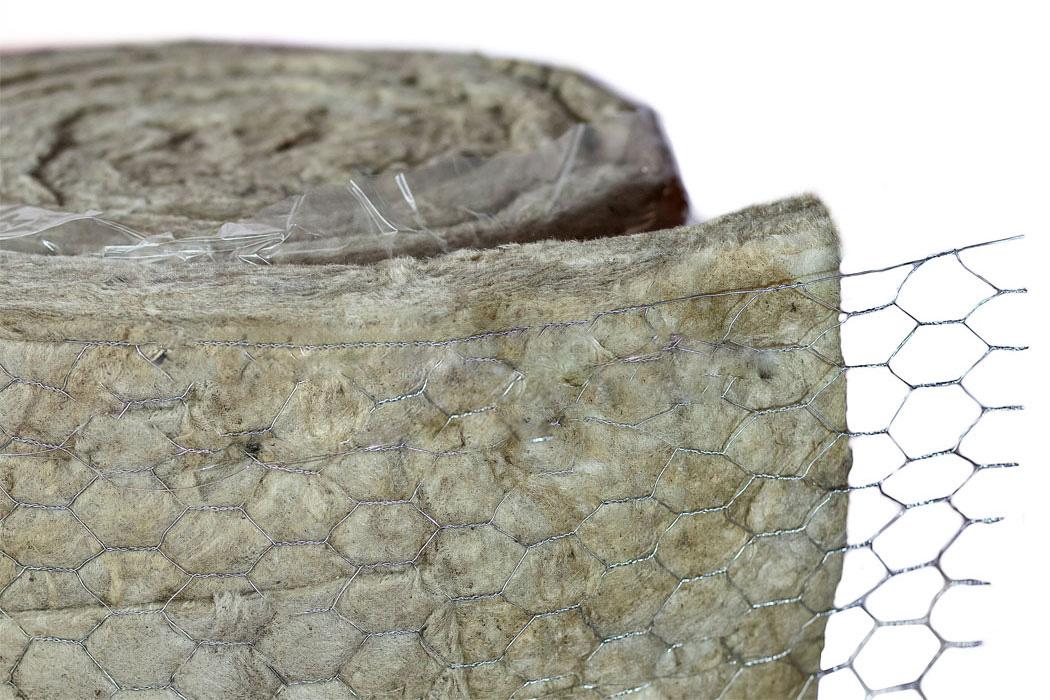 Bông sợi khoáng dạng cuộn có lưới