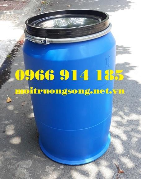 Thùng phuy nhựa 220 lít có đai sắt  MKC PN220