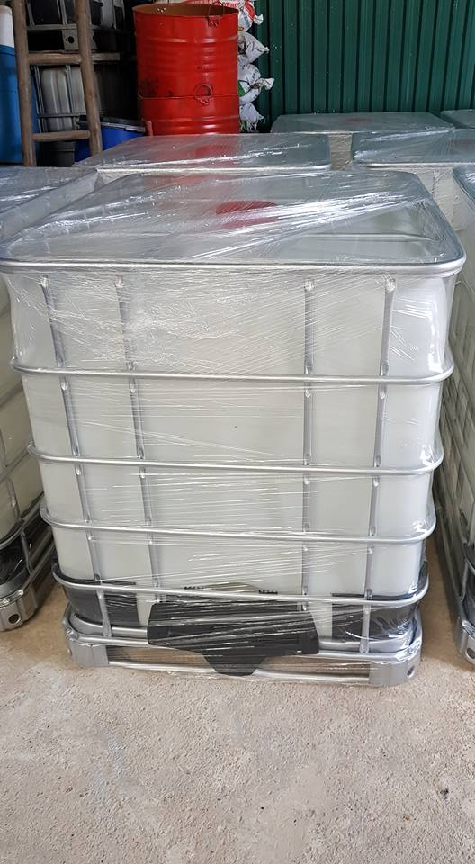 Tank nhựa IBC 1000 lít đựng hóa chất MKC